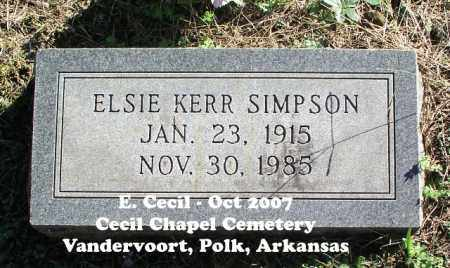 SIMPSON, ELSIE - Polk County, Arkansas | ELSIE SIMPSON - Arkansas Gravestone Photos