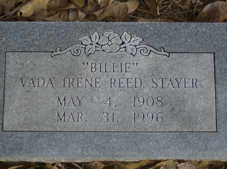 "REED STAYER, VADA IRENE ""BILLIE"" - Polk County, Arkansas 
