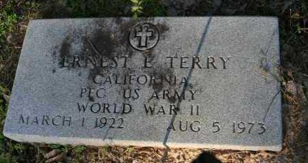 TERRY  (VETERAN WWII), ERNEST E - Polk County, Arkansas | ERNEST E TERRY  (VETERAN WWII) - Arkansas Gravestone Photos