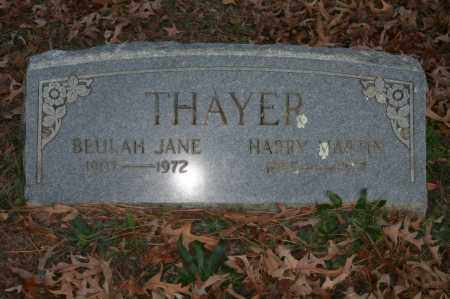 THAYER, BEULAH JANE - Polk County, Arkansas | BEULAH JANE THAYER - Arkansas Gravestone Photos