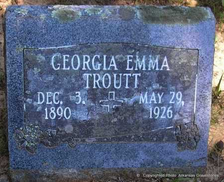 TROUTT, GEORGIA EMMA - Polk County, Arkansas | GEORGIA EMMA TROUTT - Arkansas Gravestone Photos