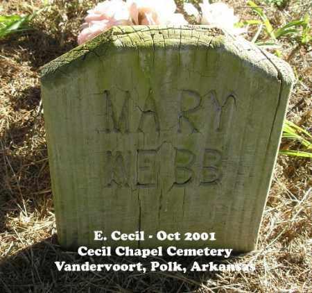 WEBB WEBB, MARY ALETHA - Polk County, Arkansas   MARY ALETHA WEBB WEBB - Arkansas Gravestone Photos