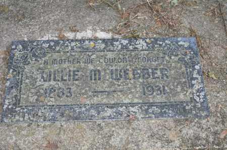 WEBBER, LILLIE M. - Polk County, Arkansas   LILLIE M. WEBBER - Arkansas Gravestone Photos