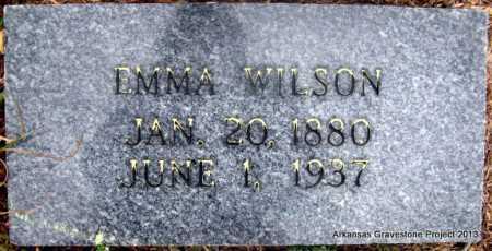 CHRISTOPHER WILSON, EMMA - Polk County, Arkansas | EMMA CHRISTOPHER WILSON - Arkansas Gravestone Photos