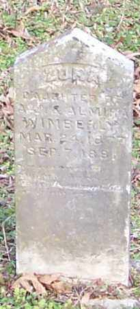 WIMBERLY, ZORA - Polk County, Arkansas   ZORA WIMBERLY - Arkansas Gravestone Photos
