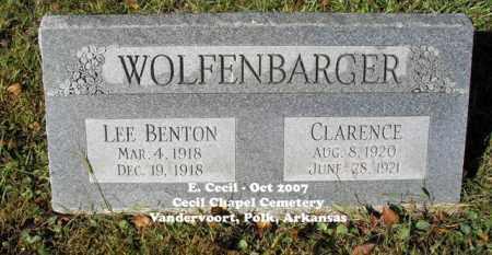 WOLFENBARGER, CLARENCE - Polk County, Arkansas | CLARENCE WOLFENBARGER - Arkansas Gravestone Photos