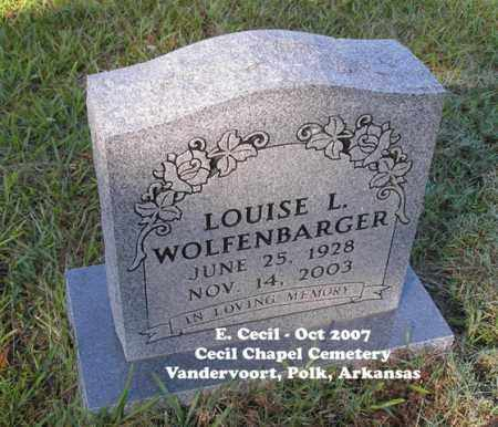 WOLFENBARGER, LOUISE L. - Polk County, Arkansas | LOUISE L. WOLFENBARGER - Arkansas Gravestone Photos