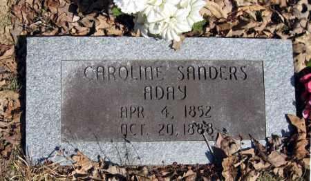 SANDERS ADAY, CAROLINE - Pope County, Arkansas | CAROLINE SANDERS ADAY - Arkansas Gravestone Photos
