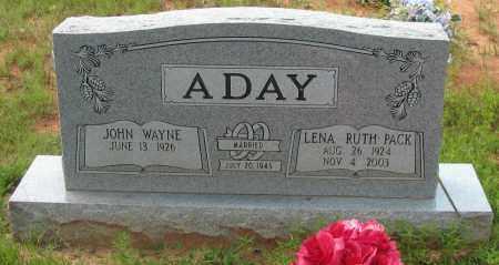 ADAY, JOHN WAYNE - Pope County, Arkansas   JOHN WAYNE ADAY - Arkansas Gravestone Photos