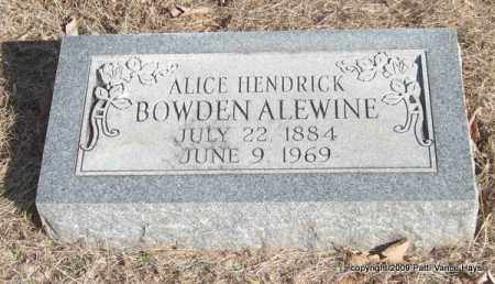ALEWINE, ALICE - Pope County, Arkansas | ALICE ALEWINE - Arkansas Gravestone Photos