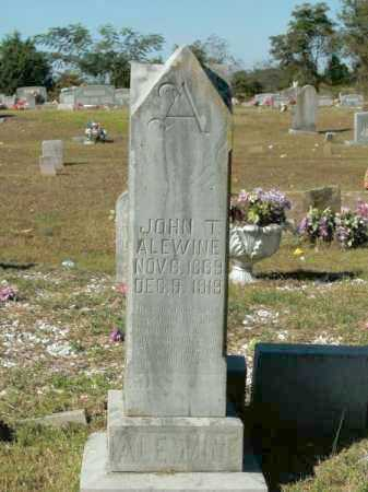 ALEWINE, JOHN T - Pope County, Arkansas   JOHN T ALEWINE - Arkansas Gravestone Photos