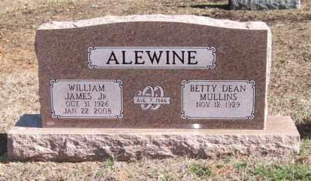 ALEWINE, JR., WILLIAM JAMES - Pope County, Arkansas | WILLIAM JAMES ALEWINE, JR. - Arkansas Gravestone Photos