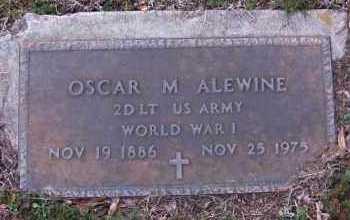 ALEWINE(VETERAN WWI), OSCAR M - Pope County, Arkansas | OSCAR M ALEWINE(VETERAN WWI) - Arkansas Gravestone Photos