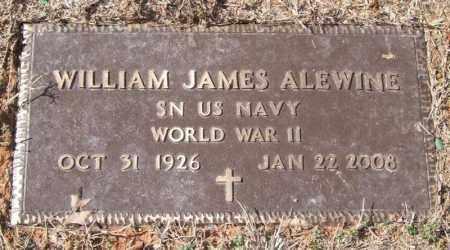 ALEWINE (VETERAN WWII), WILLIAM JAMES - Pope County, Arkansas | WILLIAM JAMES ALEWINE (VETERAN WWII) - Arkansas Gravestone Photos