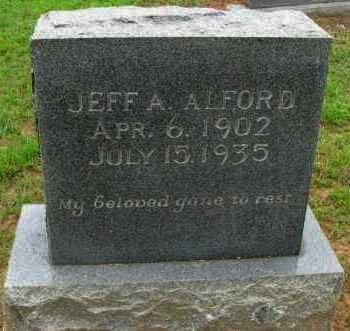 ALFORD, JEFF A. - Pope County, Arkansas   JEFF A. ALFORD - Arkansas Gravestone Photos