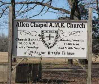 *ALLEN CHAPEL A M E  CHURCH,  - Pope County, Arkansas |  *ALLEN CHAPEL A M E  CHURCH - Arkansas Gravestone Photos