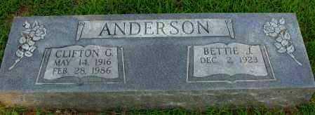 ANDERSON, CLIFTON G - Pope County, Arkansas | CLIFTON G ANDERSON - Arkansas Gravestone Photos