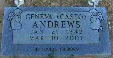 ANDREWS, GENEVA - Pope County, Arkansas | GENEVA ANDREWS - Arkansas Gravestone Photos