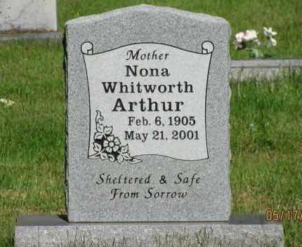 ARTHUR, NONA - Pope County, Arkansas | NONA ARTHUR - Arkansas Gravestone Photos