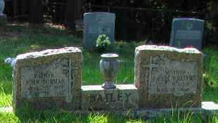 BAILEY, JOHN DORMAN - Pope County, Arkansas | JOHN DORMAN BAILEY - Arkansas Gravestone Photos