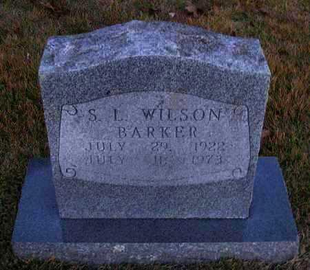 BARKER, S L  WILSON - Pope County, Arkansas | S L  WILSON BARKER - Arkansas Gravestone Photos
