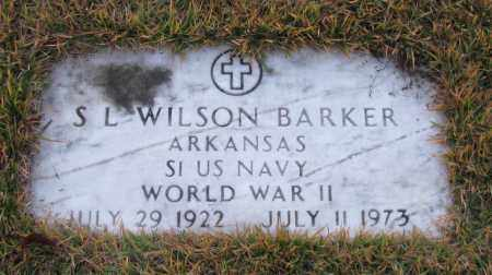 BARKER (VETERAN WWII), S L WILSON - Pope County, Arkansas | S L WILSON BARKER (VETERAN WWII) - Arkansas Gravestone Photos