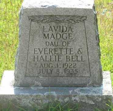 BELL, LAVIDA MADGE - Pope County, Arkansas   LAVIDA MADGE BELL - Arkansas Gravestone Photos