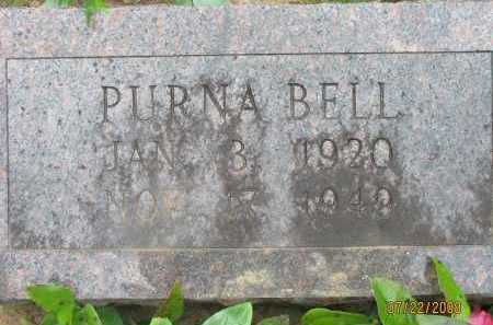 BELL, PURNA - Pope County, Arkansas | PURNA BELL - Arkansas Gravestone Photos