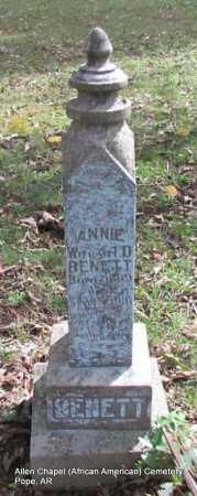 BENNETT, ANNIE - Pope County, Arkansas | ANNIE BENNETT - Arkansas Gravestone Photos