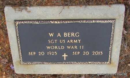 BERG (VETERAN WWII), W A  - Pope County, Arkansas | W A  BERG (VETERAN WWII) - Arkansas Gravestone Photos