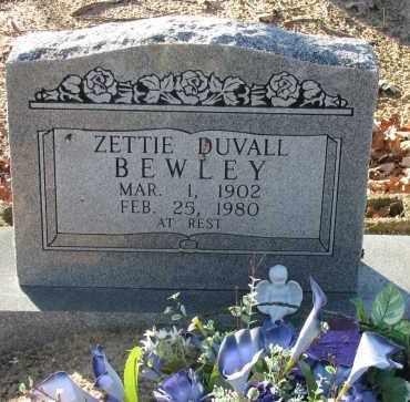 DUVALL BEWLEY, ZETTIE - Pope County, Arkansas | ZETTIE DUVALL BEWLEY - Arkansas Gravestone Photos