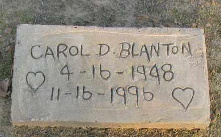 BLANTON, CAROL D - Pope County, Arkansas | CAROL D BLANTON - Arkansas Gravestone Photos