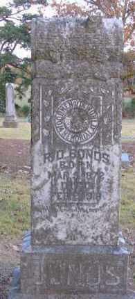 BONDS, ROBERT DIXON - Pope County, Arkansas   ROBERT DIXON BONDS - Arkansas Gravestone Photos