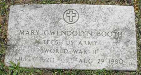 BOOTH (VETERAN WWII), MARY GWENDOLYN - Pope County, Arkansas | MARY GWENDOLYN BOOTH (VETERAN WWII) - Arkansas Gravestone Photos