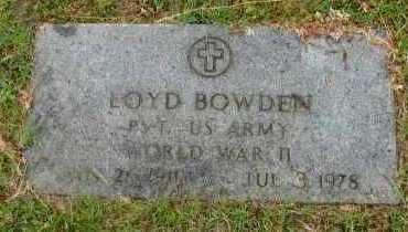 BOWDEN  (VETERAN WWII), LOYD - Pope County, Arkansas | LOYD BOWDEN  (VETERAN WWII) - Arkansas Gravestone Photos