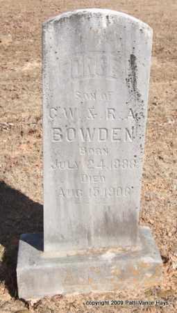 BOWDEN, GEORGE W - Pope County, Arkansas | GEORGE W BOWDEN - Arkansas Gravestone Photos