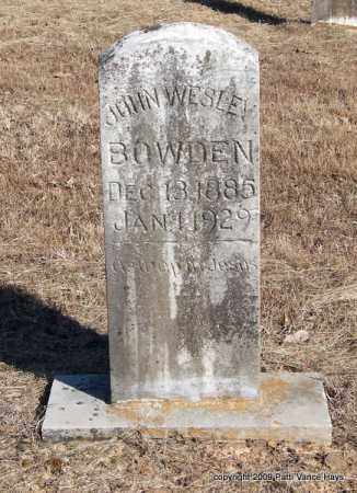 BOWDEN, JOHN WESLEY - Pope County, Arkansas   JOHN WESLEY BOWDEN - Arkansas Gravestone Photos