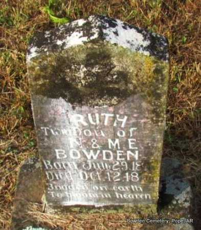 BOWDEN, RUTH   - Pope County, Arkansas | RUTH   BOWDEN - Arkansas Gravestone Photos