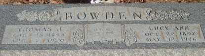 ANDERSON BOWDEN, LUCY ANN - Pope County, Arkansas | LUCY ANN ANDERSON BOWDEN - Arkansas Gravestone Photos