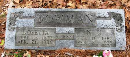 BOWMAN, DORETTA - Pope County, Arkansas | DORETTA BOWMAN - Arkansas Gravestone Photos