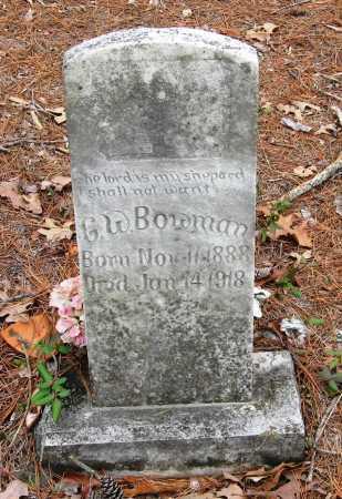 BOWMAN, G W - Pope County, Arkansas | G W BOWMAN - Arkansas Gravestone Photos