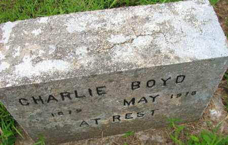 BOYD, CHARLIE - Pope County, Arkansas | CHARLIE BOYD - Arkansas Gravestone Photos