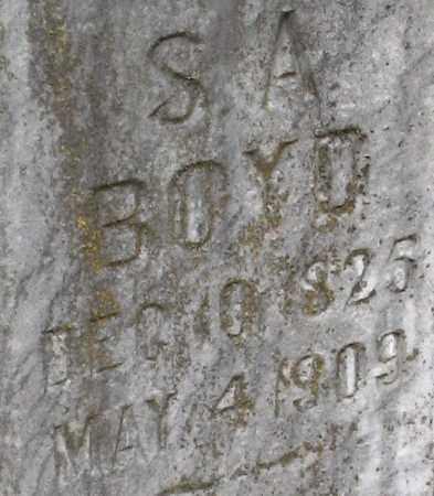 BOYD, SAMUEL A. (CLOSEUP) - Pope County, Arkansas | SAMUEL A. (CLOSEUP) BOYD - Arkansas Gravestone Photos
