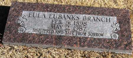 EUBANKS BRANCH, EULA - Pope County, Arkansas | EULA EUBANKS BRANCH - Arkansas Gravestone Photos