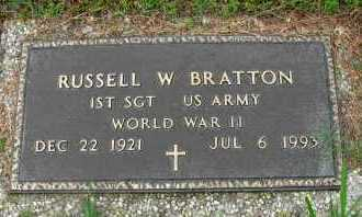 BRATTON  (VETERAN WWII), RUSSELL W - Pope County, Arkansas   RUSSELL W BRATTON  (VETERAN WWII) - Arkansas Gravestone Photos