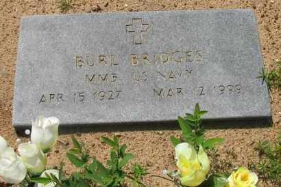 BRIDGES (VETERAN), BURL - Pope County, Arkansas   BURL BRIDGES (VETERAN) - Arkansas Gravestone Photos