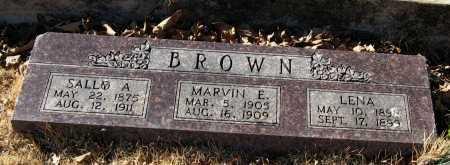 BROWN, SALLY A - Pope County, Arkansas | SALLY A BROWN - Arkansas Gravestone Photos