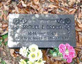 BROWN, SAMUEL E - Pope County, Arkansas   SAMUEL E BROWN - Arkansas Gravestone Photos