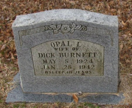 WARD BURNETT, OPAL L - Pope County, Arkansas | OPAL L WARD BURNETT - Arkansas Gravestone Photos