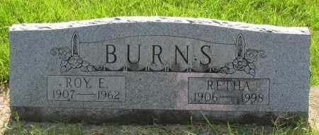 BURNS, RETHA - Pope County, Arkansas | RETHA BURNS - Arkansas Gravestone Photos